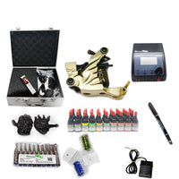 Complete Tattoo Kit with 1 Shader Machine   and CE  power supply 40 color 5ml  inks KC1H1