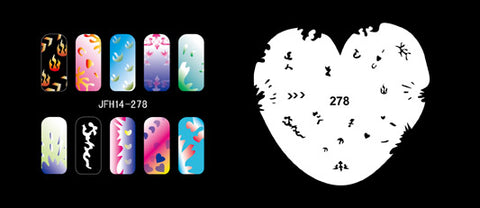 hundreds of   airbrush nail stencils 005