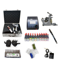 New Professional Tattoo Kit  with 2 Machine CE Power Supply 40 Color Inks KC1H1D