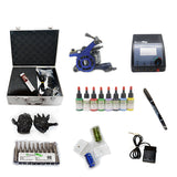 Professional Tattoo Kit with 1 Machine  CE Tattoo Power Supply 8 Color 15ML Inks KC1B1E