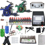 Tattoo kit with 2 machines CE Power Supply and 40 colors 5ML ink KC2H1A