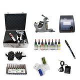 Professional Tattoo Kit with 1 Machine  CE Tattoo Power Supply 8 Color 15ML Inks KC1B1F