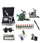 New Professional Tattoo Kit  with 2 Machine  CE Power Supply 40 Color Inks KC2C1E