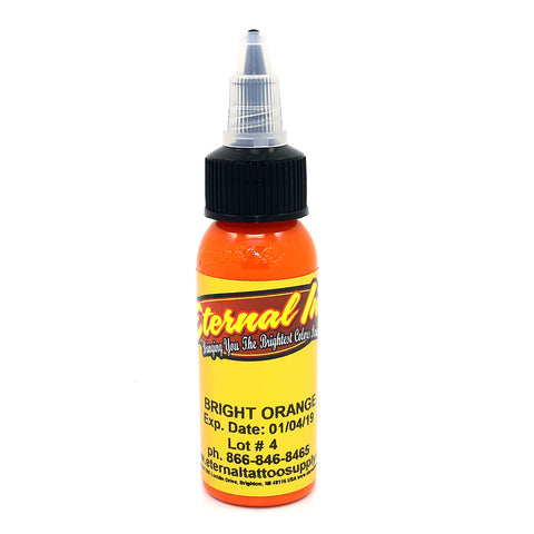 "Eternal Tattoo Ink ""Bright Orange"" 1 Oz Bottle 100% Authentic"