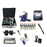 Professional Tattoo Kit with 2 Machine  CE Tattoo Power Supply 8 Color 15ML Inks KC2B1B