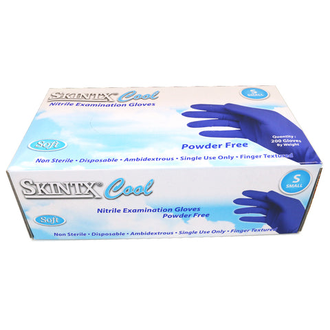 Blue Nitrile Exam Gloves, Powder-Free, Sizes Small,200 gloves/box