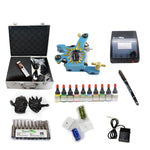 Professional Tattoo Kit  with 1 Machine  CE Power Supply 10 Color 5ML Inks KC1C1D