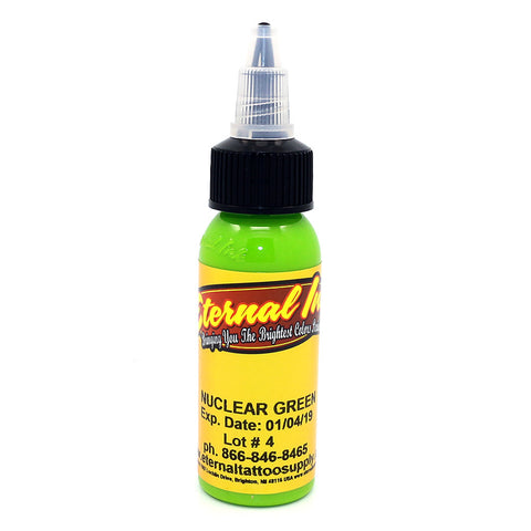 "Eternal Tattoo Ink ""Unclear Green"" 1 Oz Bottle 100% Authentic"