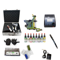 Professional Tattoo Kit  with 1 Machine  CE Power Supply 8 Color 15ML Inks KC1B1B