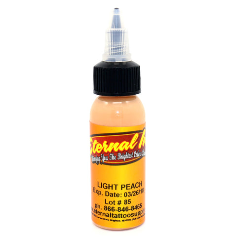 "Eternal Tattoo Ink ""Light Peach"" 1 Oz Bottle 100% Authentic"
