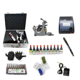 Professional Tattoo Kit with 1 Machine CE Tattoo Power Supply 10 Color 5ML Inks KC1C1G