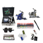 New Professional Tattoo Kit  with 3 Machine  CE Power Supply 40 Color Inks KC3H1