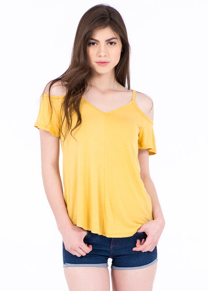BLUSA COLD SHOULDER CUELLO V