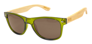 Moana Road Sunnies - Olive Green, wood arms