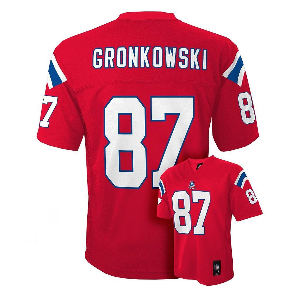 best loved c8489 f9de4 New England Patriots Rob Gronkowski #87 NFL Infants Red Alternate Jersey