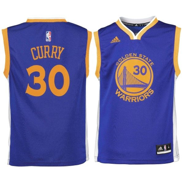 save off ef02b ccaad Golden State Warriors Stephen Curry #30 NBA Adidas Blue Toddler Road Jersey