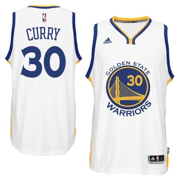 24a0fac11 Golden State Warriors Stephen Curry  30 White Youth Home Jersey ...