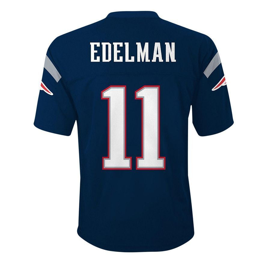 Top New England Patriots Julian Edelman #11 NFL Navy Youth Home Jersey