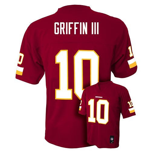 outlet store 207f1 3abb6 Washington Redskins Robert Griffin III #10 NFL Red Youth Home Jersey