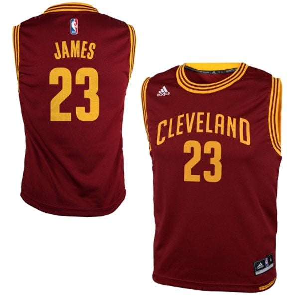 purchase cheap ca8eb ba4ee Cleveland Cavaliers LeBron James #23 Burgundy Youth Road Jersey