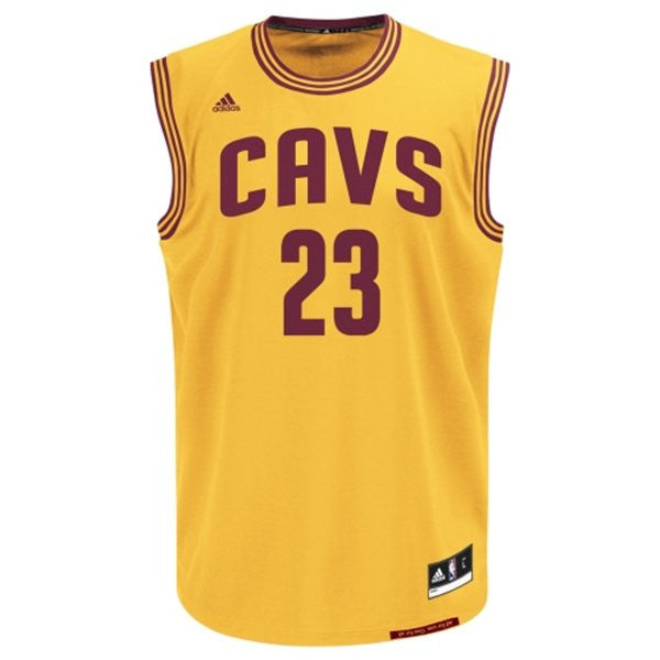 sports shoes a8423 5cf02 Cleveland Cavaliers LeBron James #23 Gold Youth Alternate Jersey
