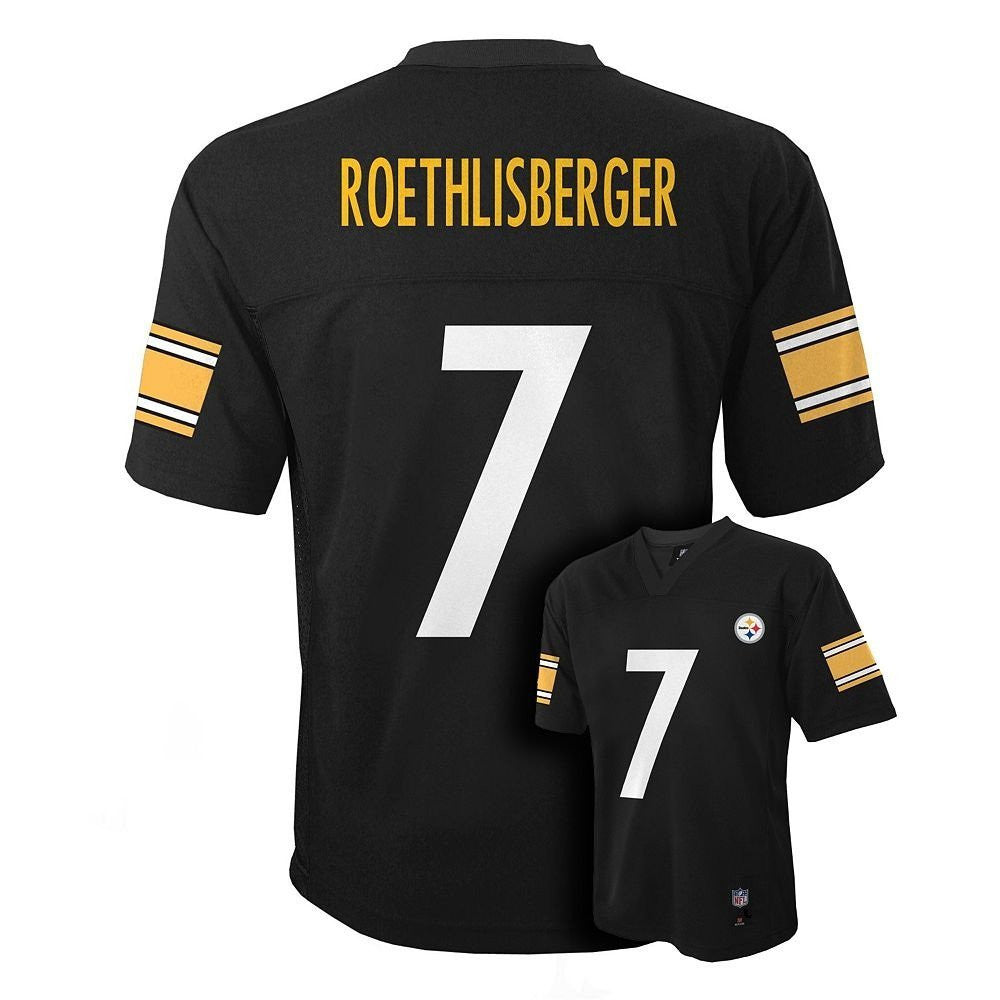 000978a7828 Pittsburgh Steelers Ben Roethlisberger #7 NFL Black Youth Home Jersey