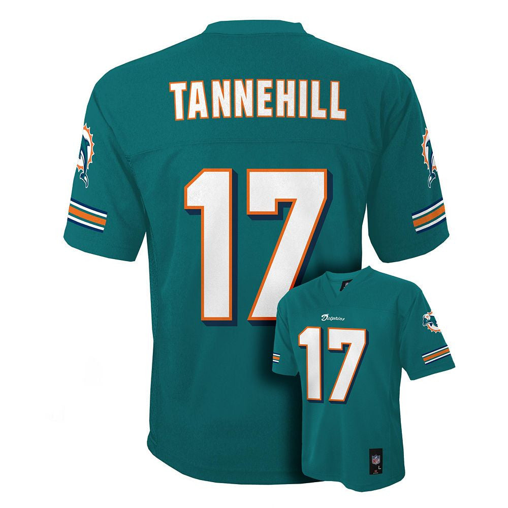 online store 47719 0e06a Miami Dolphins Ryan Tannehill #17 NFL Aqua Toddler Home Jersey