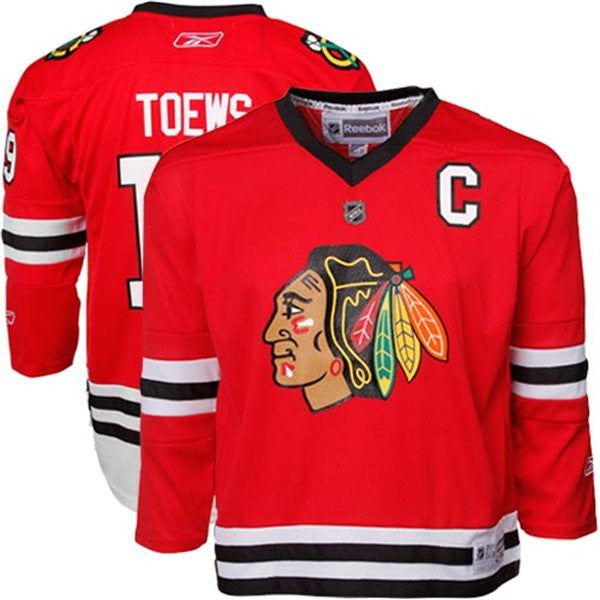 e1e483c1af5 Chicago Blackhawks Jonathan Toews #19 Red Youth Home Jersey | Jersey ...