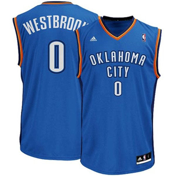 online retailer d9983 4d453 Oklahoma City Thunder Russell Westbrook #0 Light Blue Youth Home Jersey