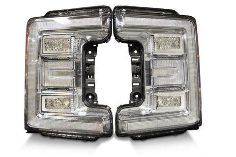 Pair: 2017+ Ford Super Duty OEM LED Headlights