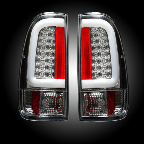 99-07 Ford Superduty and 97-03 F150 Clear LED Tail Lights