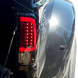 08-16 Ford Superduty Red-Smoked LED Tail Lights
