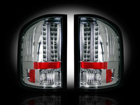 07-13 GMC Sierra Clear LED Tail Lights