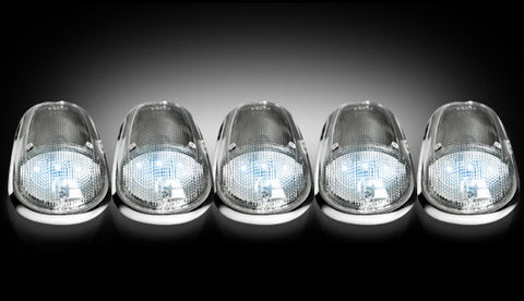 03-16 Dodge Ram Clear White LED Cab Lights - Dezert Lighting LLC