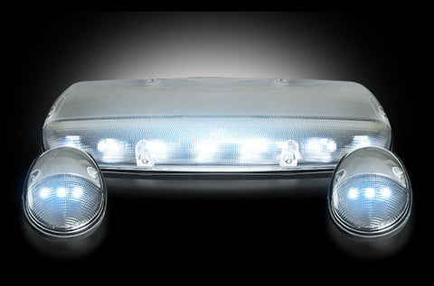 02-07 Chevy/GMC Clear White LED Cab Lights
