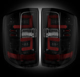 14-16 Chevy Silverado and 15-16 GMC Sierra Smoked LED Tail Lights