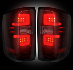 14-16 Chevy Silverado and 15-16 GMC Sierra Dark Red/Smoked LED Tail Lights