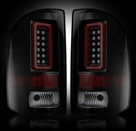 14-16 GMC Sierra Smoked LED Tail Lights
