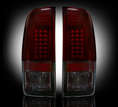 99-07 Ford Superduty and 97-03 F150 Dark Red/Smoked LED Tail Lights