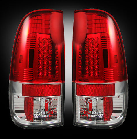 99-07 Ford Superduty and 97-03 F150 Red LED Tail Lights