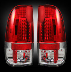 08-16 Ford Superduty Red LED Tail Lights - Dezert Lighting LLC