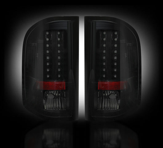 07-13 Chevy Silverado Smoked LED Tail Lights