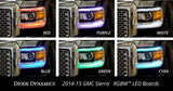 2014-2015 GMC Sierra Multicolor (RGBW) DRL LED Boards