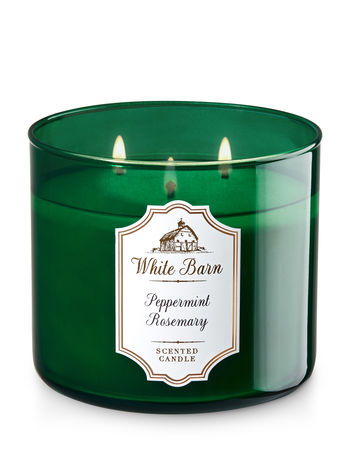 Peppermint Rosemary 3 Wick Candle