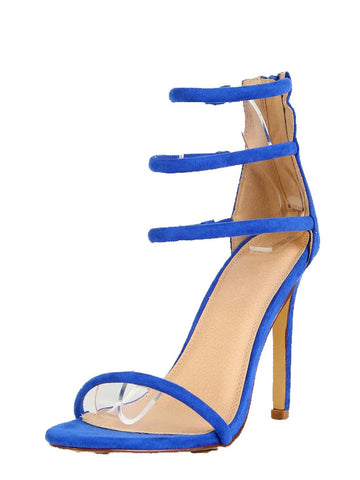 Simply Strapped Heels - Royal
