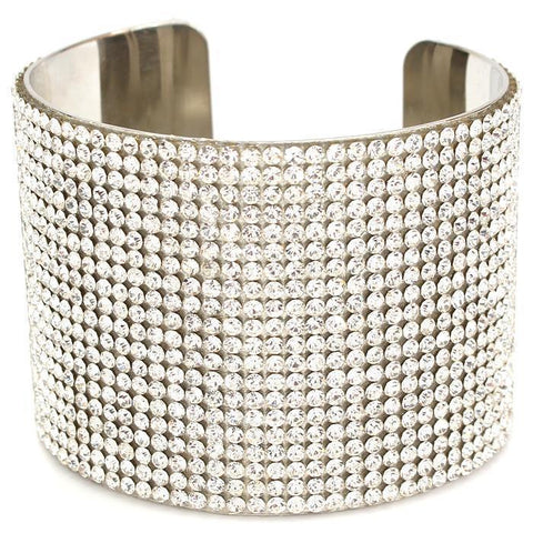 To Infinity & Bling Cuff Bracelet - Silver
