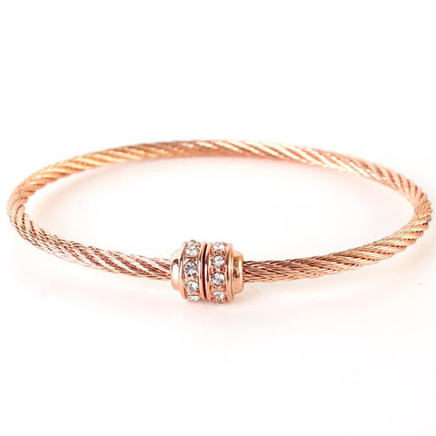 Dazzling Together Bracelet - Rose Gold