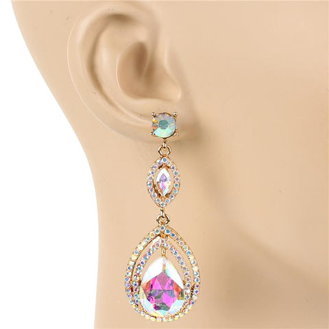 Tiered Jewels Earrings - Iridescent