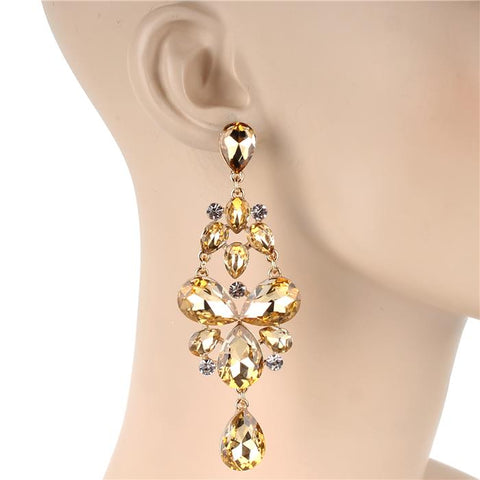 Honored Guest Bling Earrings - Champagne