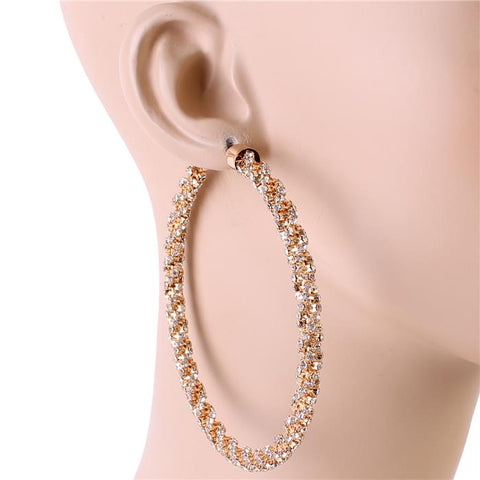 Dazzle Me Hoops - Gold